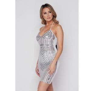 Dresses & Skirts - Silver and white Sequin dress